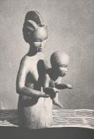 """Vierge Du Sculpteur Ivoirien Konan - Carte écrite Au Dos éditée Par """"Peuples Du Monde"""" - Côte-d'Ivoire"""