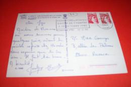 TIMBRE OBLITERATION FLAMME °  42 ROANNE  / XXXIII FOIRE DE ROANNE SALON DE L'HABITAT  4 / 13 OCTOBRE 1980 - Marcophilie (Lettres)
