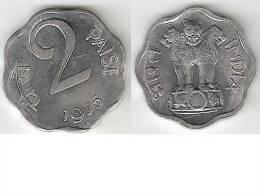 India 2 Paisa 1975 H Km 13.6  Unc - Inde