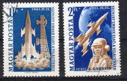 25.8.1961, 1er Vol De L'homme Dans L'espace,  YT  1429 + 1430, Oblitéré, Lot 40555 - Space