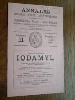 Annales COLLEGII MIDICI ANTVERPIENSIS Geneeskundige Kring Antwerpen Nr.14 / 1948 ( Pour Détail Voir Photo Svp ) ! - Diploma & School Reports