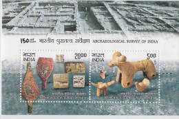2011  Archaeological Survey Of India  Excaveted Artifacts  2v  Sovenir Sheet # 62497  Inde  Indien - Archaeology