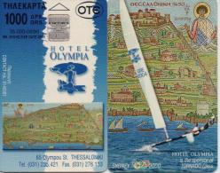 GREECE PHONECARD HOTEL OLYMPIA 3 ,X0804- 35000pcs-8/99-USED - Grèce