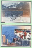 2 ENTIER POSTAL CARTE SUISSE J.O. SALT LAKE CITY 2002 & ST MORITZ 1928 MINT NEUF - Winter 1948: St. Moritz