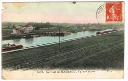 """""""France 78 - Maurecourt - Le Port De Maurecourt Sur L'Oise"""" Couleur !!! Etat !!! - Maurecourt"""