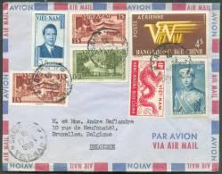 Lettre De SAIGON 11-4-1958 Vers Bruxelles. - 7470 - Viêt-Nam
