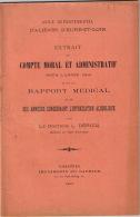 BONNEVAL EURE ET LOIR ASILE ALIENES RAPPORT ANNUEL 1906 - Unclassified
