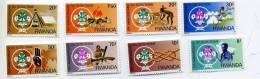 Scoutisme-1985-Rwanda-sér Ie Surchargée-1141/48***mnh - Scoutisme