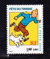 FRANCE Y&T 3303 XX TINTIN HERGE. (4BD17) - Bandes Dessinées