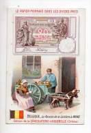 Chromo - Chocolaterie D'Aiguebelle - Le Papier Monnaie - Belgique, La Recette De La Laitière à Mons - Aiguebelle