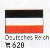 6 Coin+Flaggen-Sticker In Farbe Deutschland 3.Reich 4€ Kennzeichnung An Alben Karte Sammlung LINDNER 628 Flag Of Germany - [ 4] 1933-1945 : Tercer Reich