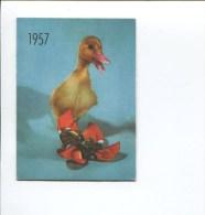 MOUCHOIRS TISSGAR TISSU BOUSSAC  CALENDRIER PETIT FORMAT 1957 SATURNIN CANNETON NOUED MOUCHOIR - Calendriers