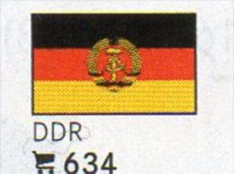 6 Coins+ Flaggen-Sticker In Farbe Deutschland DDR 4€ Kennzeichnung Von Alben Karten Sammlung LINDNER 634 Flag Of Germany - [ 6] 1949-1990 : RDA - Rép. Démo. Allemande