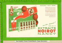 Buvard :Preparez les Orangeades Extraits Noirot Nancy  citronade Grenadine