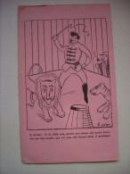 Carta Assorbente/buvard Umoristica B.ISELIN (circo, Leoni, Domatore) - Carte Assorbenti