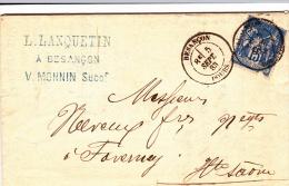 FRANCE  Lettre  1883   A ETUDIER ( Scan Recyo / Verso ) - Poststempel (Briefe)