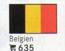 6 Coins + Flaggen-Sticker In Farbe Belgien 4€ Kennzeichnung Von Alben Karten Sammlungen LINDNER #635 Flags Of Belgica - Belgique