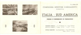"""NAVIGAZIONE - DEPLIANT ILLUSTRATO """"COMPAGNIA GENOVESE D'ARMAMENTO - GENOVA"""" ITALIA SUD AMERICA - Pubblicitari"""