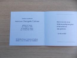 Doodsprentje Georgette Calcoen Veurne 7/2/1940 - 12/12/2004 - Religione & Esoterismo