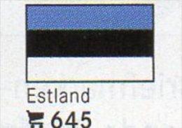 6 Coins + Flaggen-Sticker In Farbe Estland 4€ Zur Kennzeichnung Von Alben Karten / Sammlungen LINDNER #645 Flag Of Eesti - Estonie