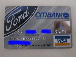 Invalided Credit  Card,citibank Visa Card, Ford-Lincoln-Mercury - Carte Di Credito (scadenza Min. 10 Anni)