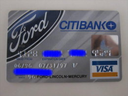 Invalided Credit  Card,citibank Visa Card, Ford-Lincoln-Mercury - Geldkarten (Ablauf Min. 10 Jahre)
