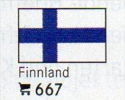 6 Coins+Flaggen-Sticker In Farbe Finnland 4€ Zur Kennzeichnung Von Alben Karten/Sammlungen LINDNER #667 Flags Of Finland - Finlande