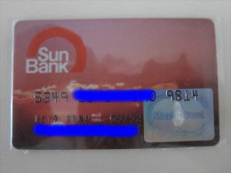 Invalided Credit  Card,Sun Bank Master Card,sunset,old Master Logo - Tarjetas De Crédito (caducidad Min 10 Años)