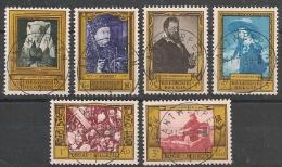 Nrs 1076/1081 Schilderijen  Oblit/gestp Centrale - Oblitérés