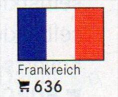 6 Coins+Flaggen-Sticker In Farbe Frankreich 4€ Zur Kennzeichnung An Alben Karten/Sammlungen LINDNER #636 Flags Of FRANCE - France