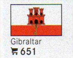 6 Coins+Flaggen-Sticker In Farbe Gibraltar 4€ Zur Kennzeichnung An Alben Karten/Sammlungen LINDNER #651 Flags Of UK / GB - Gibraltar