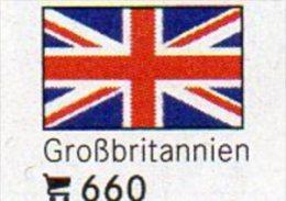 6 Coin+Flaggen-Sticker In Farbe Großbritannien 4€ Zur Kennzeichnung An Alben Karten/Sammlung LINDNER #660 Flags Of UK/GB - Grande-Bretagne