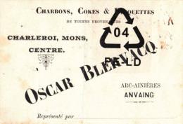 ARC-AINIERES - ANVAING  - Charbons, Cokes & Briquettes - Oscar Blervacq - Frasnes-lez-Anvaing