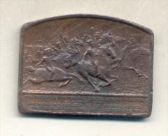 INAUGURACION DEL MONUMENTO AL EJERCITO DE LA INDEPENDENCIA AÑO 1910 GRANADEROS A CABALLO - Tokens & Medals