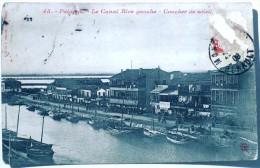 PALAVAS Le Canal Rive Gauche. Le Coucher De Soleil - Palavas Les Flots