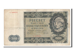 Pologne, 500 Zlotych Type 1940 - Pologne