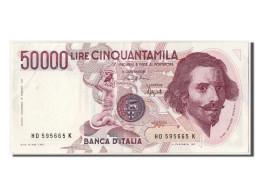 [#302888] Italie, 50 000 Lire Type Bernini - [ 2] 1946-… : République