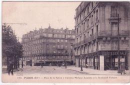 1014- PARIS - Place De La Nation à L'Avenue Philippe Auguste Et Le Bd Voltaire -ed. F Fleury - Arrondissement: 12