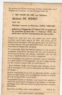 DP: Jerome De Windt - Vervaet - Zelzate - Gent - Vieux Papiers