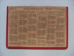 Calendario/calendarietto Porta Foglietti In Pelle 1956 - Calendari