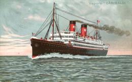 AK Dampfer Garibaldi Ca. 1940 (?) Schiff Dampfer Ship Steamer Vapore Transatlantica Italiana - Paquebots