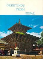 "Asie Greetings From NEPAL Changu Narayan Temple- Timbre Stamp  ""NEPAL ""*PRIX FIXE - Nepal"