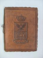 """Calendario Copertina In Pelle Con Fregio Dei Savoia """"Scuola D'Applicazione Di Cavalleria 1933"""" - Calendari"""