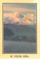 "Asie -NEPAL Mt FISHTAIL Pewa Tal And Machapuchare Himalaya  Temple- Timbre Stamp  ""NEPAL "" (montagne Mountain)*PRIX FIXE - Népal"