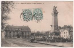 CAEN  -  CASERNE HAMELIN ET PLACE ALEXANDRE III - Caen