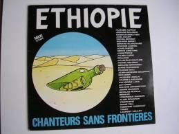 "MAXI -  CHANTEURS SANS FRONTIERES  -  EMI 1549796  "" ETHIOPIE ""  + 1 ( RENAUD / AUFRAY / BERGER / CABREL / HIGELIN ... ) - 45 T - Maxi-Single"