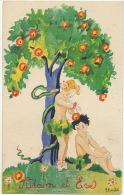 Adam Et Eve Par G. Duché Serpent Pomme Snake And Apple - Contes, Fables & Légendes