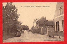 CPA: Guemps (62)  La Rue Des Ecoles - Francia
