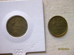 10 Francs 1954 (rare) & 1954 B - France