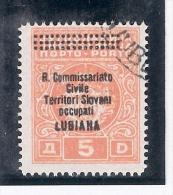 """Jugoslavia 1941.  Soprastampa """" R.Commissariato Civile - Territori Sloveni Occupati-Lubiana"""". - 1931-1941 Regno Di Jugoslavia"""